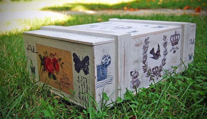 caja de vinos DIY