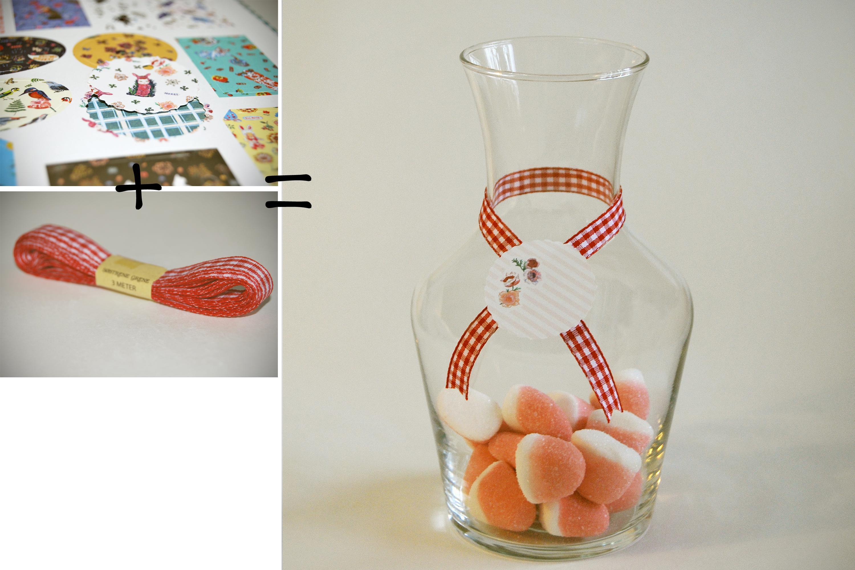 C mo decorar unos botes de cristal quecacoqueta - Como decorar jarrones de vidrio ...