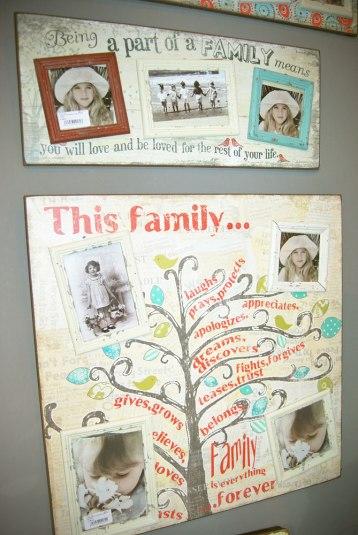 Árbol genealógico decorativo.