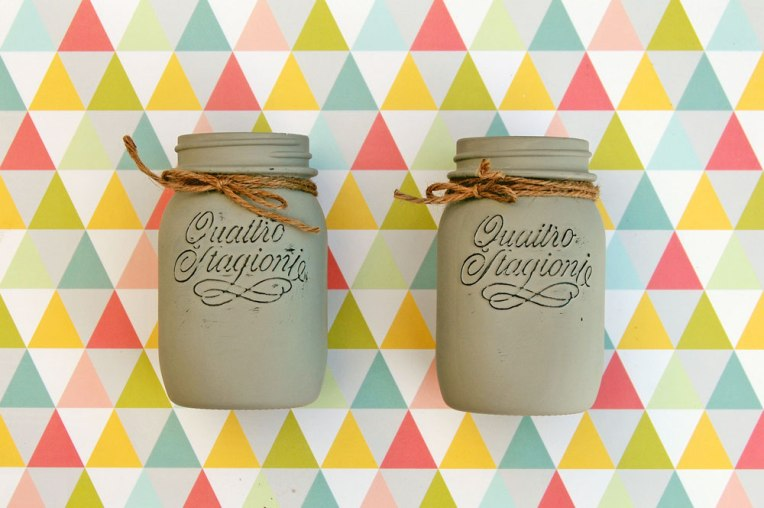 Mason Jar con chalk paint