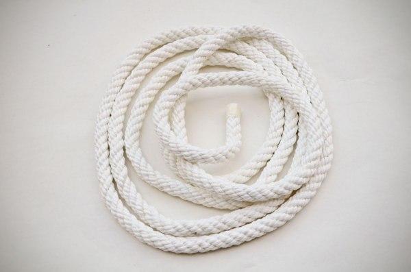 cuerda trenzada de algodón blanco