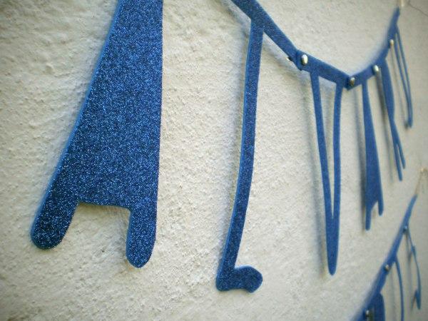 Word Banner handmade